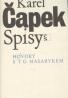 Karel Čapek: Spisy / Hovory s T.G. Masarykem