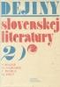 Pavol Mazák a kolektív: Dejiny Slovenskej literatúry 2