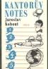 Jaroslav Kohout: Kantorův notes