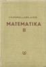 I.Kluvánek a kolektív- Matematika II