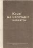 František Němec- Kľúč na určovanie nerastov