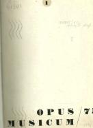 Kolektív autorov: Opus musicum 1975