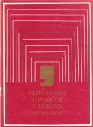 kolektív- Slovenské divadlá v sezóne 1978-1979