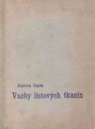 J.Čapek- Vazby listových tkanin