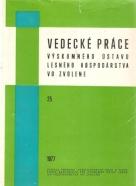 kolektív- Vedecké práce výskumného ústavu lesného hospodárstva vo Zvolene